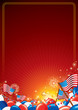 American Celebration Vector Background