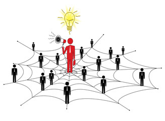 Network marketing is based on the transfer of ideas and info
