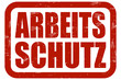 Grunge Stempel rot ARBEITSSCHUTZ