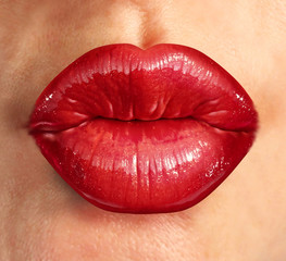 Human Kiss Lips