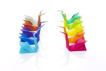 Origami, Schwäne, Gegenüberstellung 2