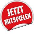 Sticker rot rund cu JETZT MITSPIELEN
