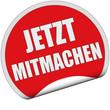 Sticker rot rund cu JETZT MITMACHEN