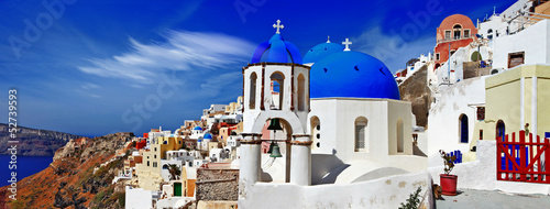 panorama of beautiful Oia village - Santorini,Greece
