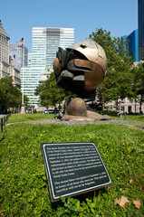 The Sphere in Battery Park in NYC