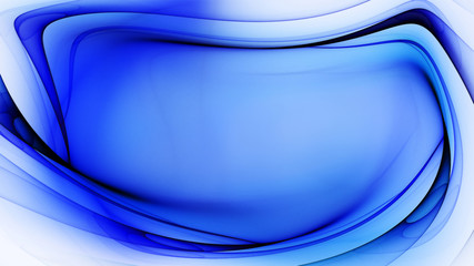 Abstract blue swirl on white background
