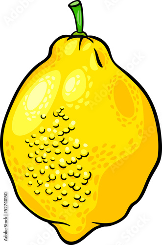 lemon citrus fruit cartoon illustration