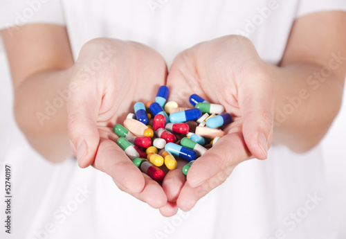 Pills in hands