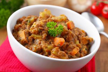 lentil stew - Linseneintopf