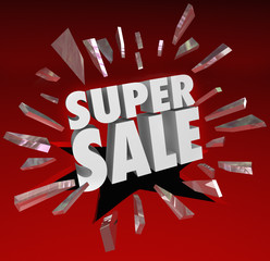 Super Sale Words Shatter Glass Big Clearance Closeout Savings Ev