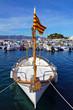 Catalan boat in Mediterranean marina