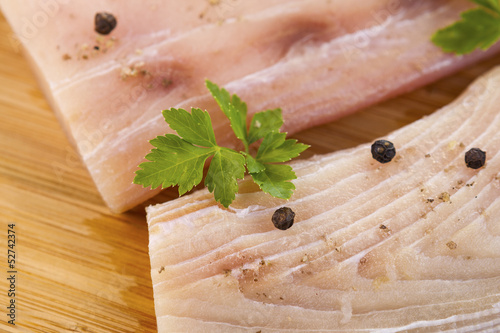 White Fish Fillets Seasoned for Cooking