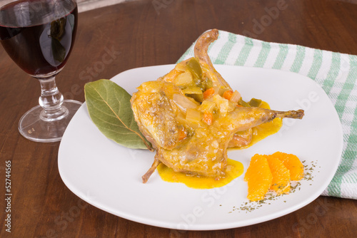 Portion of quail