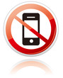 No smartphone sign Vector