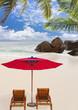 plage paradisiaque aux Seychelles