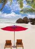 Fototapety plage paradisiaque aux Seychelles