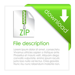 Zip file download icon