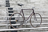 City bicycle and concrete stairs, vintage style