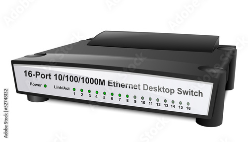 Network Switch or Router. Vector Illustration
