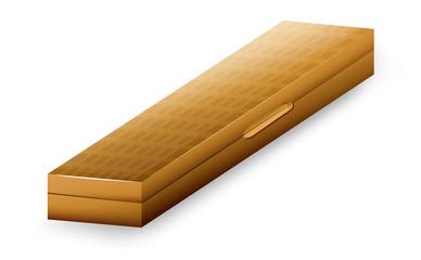 A wooden case