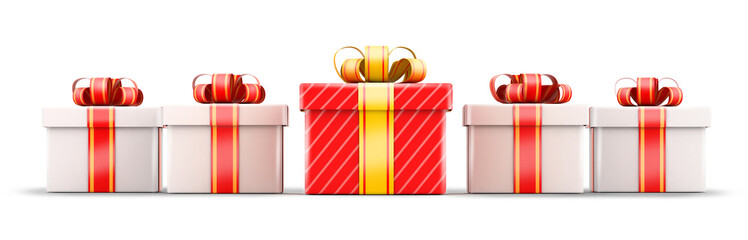 Five gift selection concept