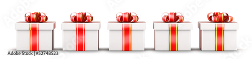 Five gifts selection concept