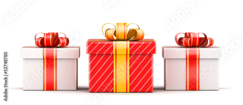 Three gift selection concept
