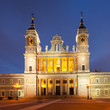 La Almudena cathedral in twilight