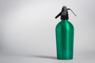 Vintage green seltzer siphon