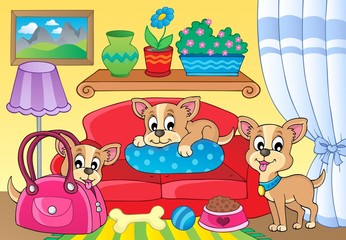 Cute dog theme image 2