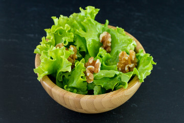 salad with walnut in bowl