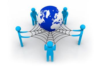 Social network concept, internet concept
