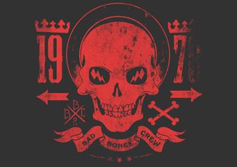 Bad bones crew © Tshirt-Factory.com