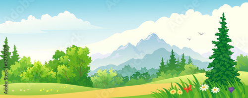 Forest banner - 52751309