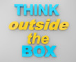 text think outside the box