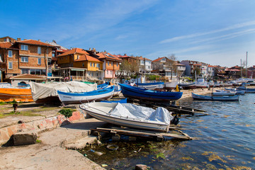 Boats on the coast of Sozopol