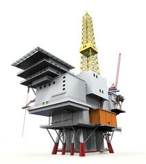 Drilling Offshore Platform Oil Rig