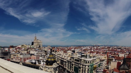 Madrid. Top view. Timelapse