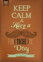Have A Fun - tache - tic Day Typographical Background
