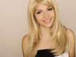 Beautiful blond girl smiling
