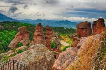 Belogradchik rocks Fortress, Bulgaria.HDR image