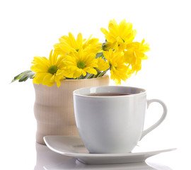 tea and fowers