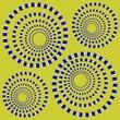 Rotating Circles. Optical Illusion