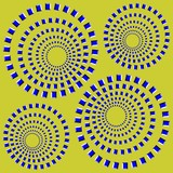 Rotating Circles. Optical Illusion