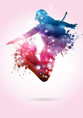 Ballerina con cappellino che salta