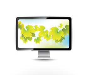 LCD Monitor and screensaver image