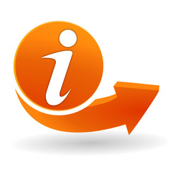 informations sur bouton web orange