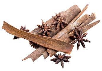 anice and cinnamon macro background