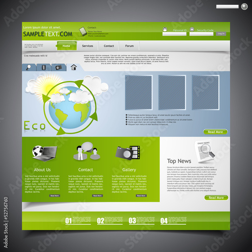 Website template, Economy theme