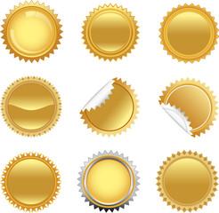 golden starbursts set
